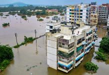 Flooded locality at Badlapur after heavy rains in Mumbai on 22 July 2021  PTI