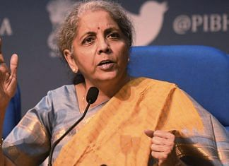 File photo of Finance Minister Nirmala Sitharaman | ANI photo