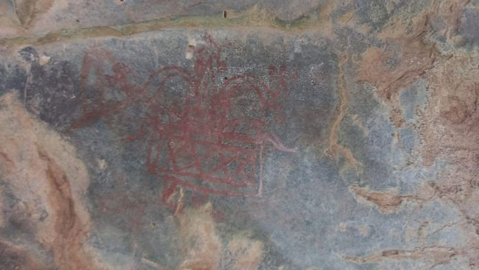 A specimen of the paleolithic paintings found in the Aravallis | By special arrangement