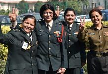 Women Army officers outside the Supreme Court in New Delhi on 17 February 2020 ( representational image) | Photo: Suraj Singh Bisht | ThePrint