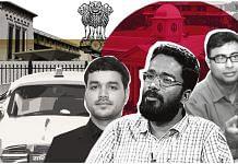 (From left) IAS officers Anupam Mishra, Sriram Venkitaraman and Rajiv Ranjan | Illustration: Soham Sen