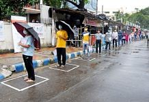 Students stand in a queue as they arrive to give the JEE Mains entrance exams in Kolkata on 1 September 2020   Representational image  ANI