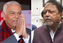 Former Union minister Yashwant Sinha (L) and Mukul Roy | Photo credit: PTI and ThePrint