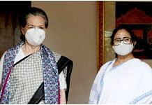 Congress President Sonia Gandhi (left) with West Bengal Chief Minister Mamata Banerjee Wednesday | Twitter: @INCIndia