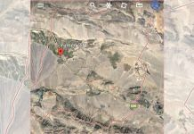 A Google Earth image grab of Yumen city in Gansu province on the China map | Photo: Google Earth