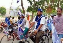 Azad Samaj Party chief Chandra Shekhar Aazad during his 'Cycle Yatra' in Uttar Pradesh. | Photo: Special arrangement