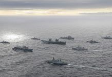 UK Carrier Strike Group 2021, led by HMS Queen Elizabeth, has sailed into Indian Ocean Region, on 16 July 2021 | Twitter/@ANI