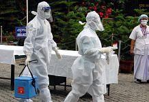 Representational image. | Medics collect swab samples of Covid-19 patients at a hospital in Guwahati. | Photo: ANI