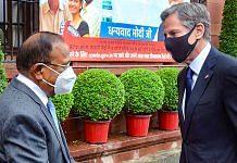 National Security Adviser Ajit Doval meets US Secretary of State Antony Blinken in New Delhi, on 28 July 2021 | PTI Photo