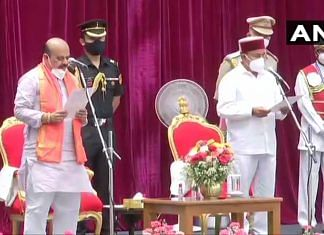 Basavaraj Bommai takes oath as the Chief Minister of Karnataka on 28 July, 2021 | Twitter/ANI