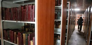 The new library at the Janpath hotel, in spread across two floors | Photo: Manisha Mondal | ThePrint