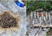 Explosive materials and ammunition were recovered during a search operation by Awantipora Police, Indian Army and CRPF in J&K Pulwama district, on 16 July 2021| Twitter/@ANI