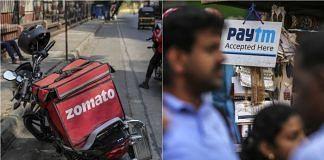 Zomato and Paytm logos | Bloomberg