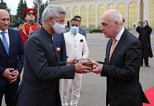 External Affairs Minister S. Jaishankar handing over a part of holy relics to Georgia's Vice PM David Zalkaliani on 9 July 2021   Twitter   @DZalkaliani