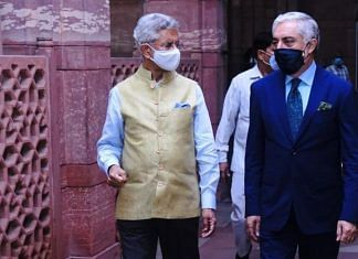 External Affairs Minister S. Jaishankar and Afghanistan reconciliation leader Abdullah Abdullah in New Delhi on 23 July.   Photo: Twitter/@DrJaishankar