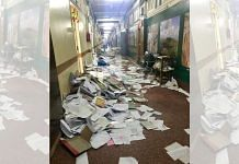 A 2018 image of a Mantralaya corridor littered with discarded files and papers, after the then government had directed departments to clean the offices   Manasi Phadke   ThePrint