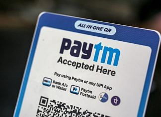 A restaurant advertises the use of the Paytm digital payment system in Mumbai | Bloomberg