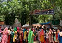 Women queue up for free ration being distributed by an NGO in Delhi  Aneesha Bedi   ThePrint