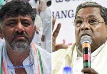 File photos of Karnataka Congress leaders D.K. Shivakumar and Siddaramaiah | ANI/Twitter