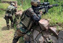 Soldiers carrying out a patrolling drill at the LoC | Snehesh Alex Philip | ThePrint