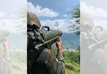 A soldier on guard facing Pakistan Occupied Kashmir | Snehesh Alex Philip | ThePrint