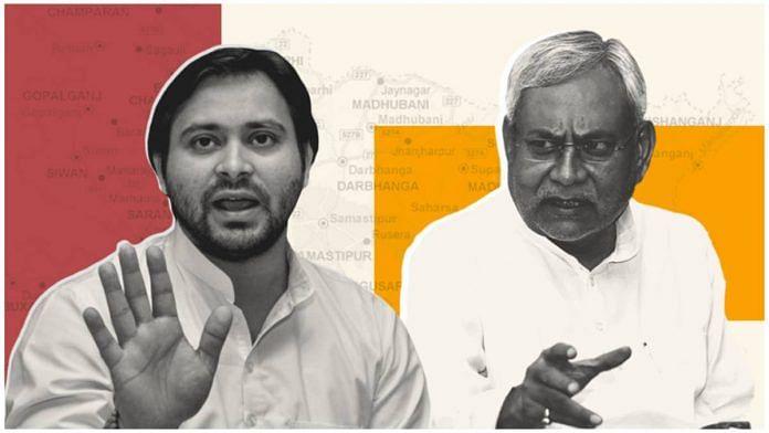 RJD leader Tejashwi Yadav and Bihar Chief Minister Nitish Kumar   Illustration: Soham Sen