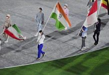 File photo   Bronze medalist Bajrang Punia holds the Indian flag at the Olympics Stadium during the closing ceremony, Tokyo, 8 August 2021   PTI
