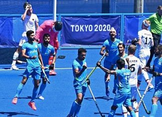 Indian players celebrate after their win against Germany during the men's field hockey bronze medal match, at the 2020 Summer Olympics, in Tokyo, on 5 August 2021 | Twitter/@AmitShah