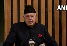 National Conference president Farooq Abdullah during an event in Srinagar, on 31 August 2021 | Twitter/@ANI