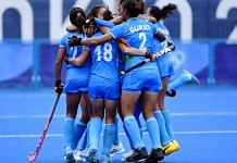Indian women's hockey team after winning against Australia, 2020 Tokyo Olympics   Twitter/TheHockeyIndia/