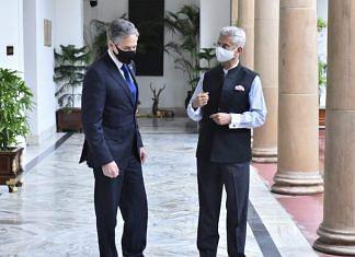 EAM S. Jaishankar and US Secretary of State Antony Blinken in New Delhi, July 2021 | Twitter
