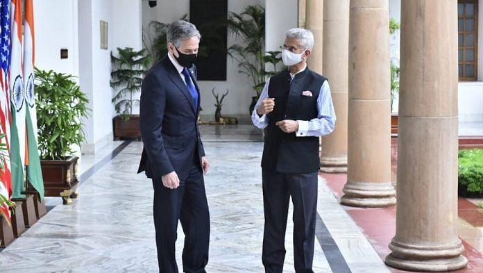 EAM S. Jaishankar and US Secretary of State Antony Blinken in New Delhi, July 2021   Twitter