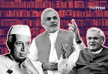 A graphic featuring Jawaharlal Nehru, Narendra Modi, and Atal Bihari Vajpayee   Siddhant Gupta   ThePrint