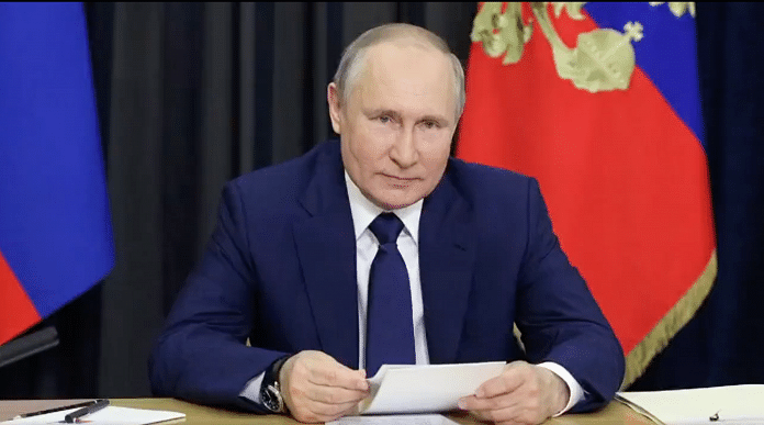 """Russian President Vladimir Putin. The """"pro-Putin"""" ruling party, United Russia, is expected to retain its constitutional majority in the Duma.   @RusEmbIndia   Twitter"""