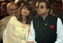 Congress leader Shashi Tharoor with his late wife Sunanda Pushkar | Twitter/@sptvrock