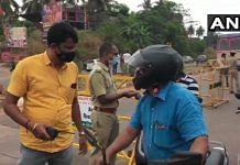 File photo of the Talapady border in Karnataka's Dakshina Kannada district | ANI