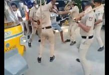 Screenshot from a viral video of the protest organised by Congolese nationals in Bengaluru Tuesday | Via Twitter