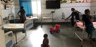 A child at the nutritional rehabilitation centre at Chitrakoot district hospital | Jyoti Yadav | ThePrint