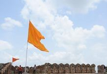 The hoisting of the saffron flag has led to tension at Amagarh fort in eastern Jaipur | By special arrangement