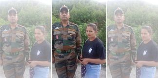 CRPF constable Yatendra Singh and the woman (yet to be identified) have been detained in Assam | Photo: Twitter/@sneheshphilip