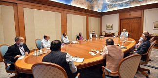 PM Narendra Modi chairs a meeting of Cabinet Committee on Security in the wake of Taliban capturing power in Afghanistan, New Delhi, 17 Aug 2021   PTI