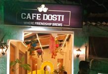A view of Cafe Dosti, which is situated at Champa Gali, the hub of small and cozy cafes in Saket, Delhi.   Photo: Twitter/@bhatiananchal29