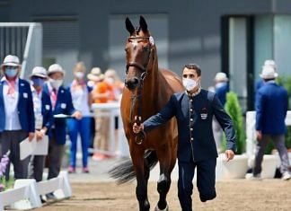 Fouaad Mirza with his horse Seigneur Medicott