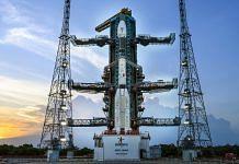 ISRO's GSLV-F10 carrying EOS-03 at the launch pad in Sriharikota. | Photo: Twitter/@isro