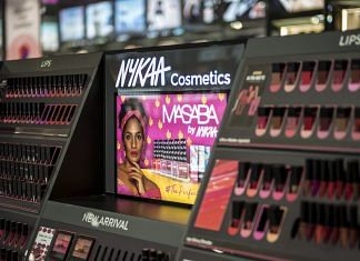 Nykaa branded beauty products inside the Nykaa store in New Delhi, on 30 July 2021 | Bloomberg