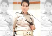 A screenshot from UP Police constable Priyanka Misra's video   Via Twitter