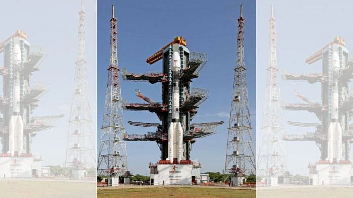 The GSLV-F10/EOS-03 sits on the Second Launch Pad at Sriharikota | isro.gov.in