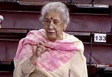 Rajya Sabha MP and senior Congress leader Ambika Soni | File photo: ANI/RSTV