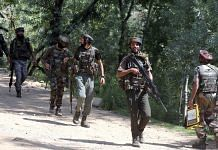 Representational Image| File photo of Army personnel on a search operation in Jammu and Kashmir's Bandipora district | ANI photo