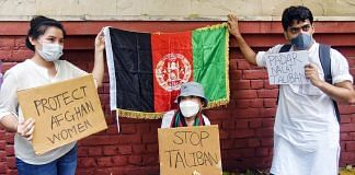 A protest against the Taliban's takeover of Afghanistan in New Delhi | Representational image: ANI
